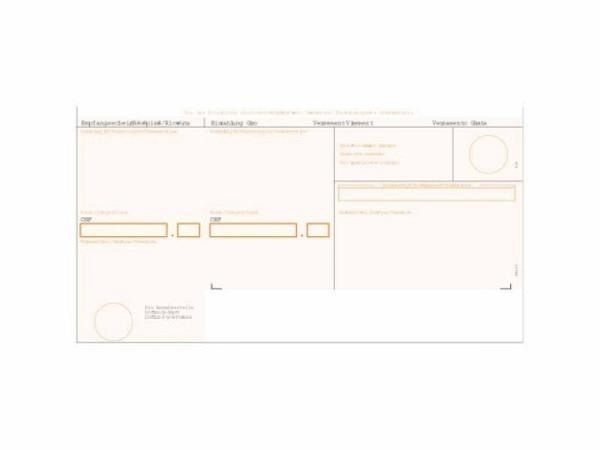 Einzahlungsscheine Simplex Simfacture orange 1000 Blatt