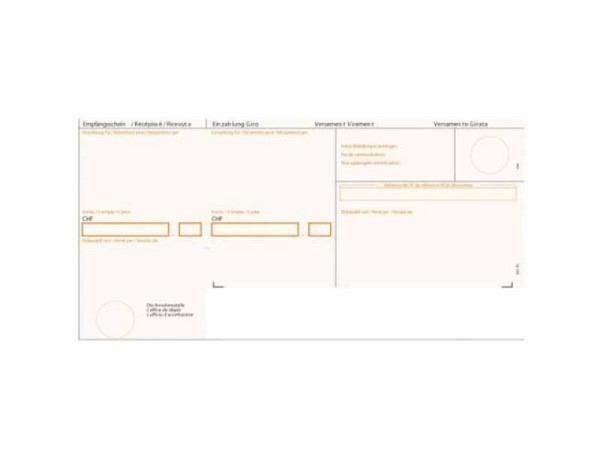 Einzahlungsscheine Simplex Simfacture orange, 100 Blatt
