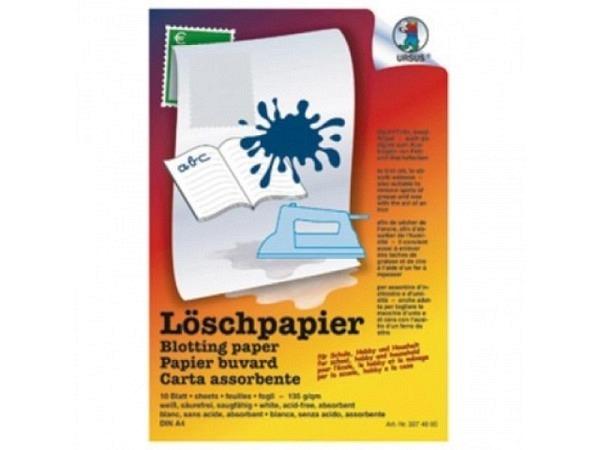 Löschpapier Ursus A4 weiss 135g/qm 10Blatt