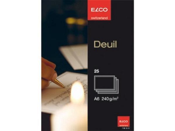 Karten Elco Trauer A6 einfach 14,8x10,5cm, 25Stk.