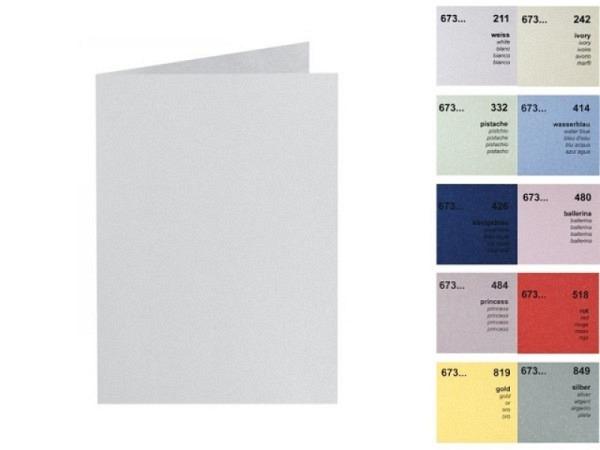 Karten Artoz Perle A6 14,8x10,5/10,5cm hochdoppelt ballerina