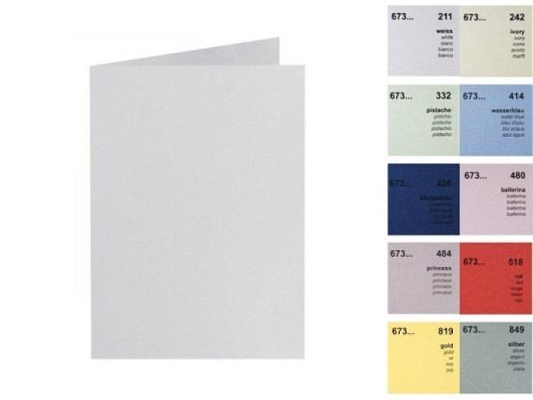 Karten Artoz Perle B6 16,9x12/12cm hochdoppelt