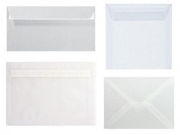 Couverts Artoz Perga Pastell transparent 16x16cm, 100g/qm
