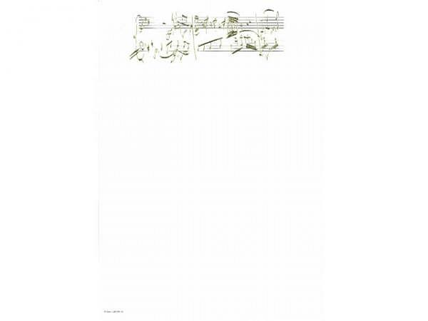 Papier Artoz Design 5Stk, Mozert Paritur, Goldprägung A4