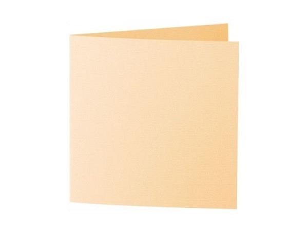 Karten Artoz 15,5x15,5cm honiggelb 220g/qm, leicht gerippt