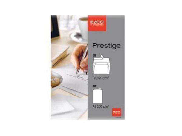 Karten Elco Prestige 10x weisse A6 Doppelkarte und Couvert