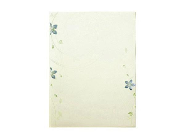 Papier Artoz Design 5Stk, A4, Goldene Blüten