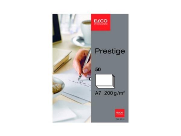 Karten Elco A7 200g weiss 50Stk. holzfrei, satiniert