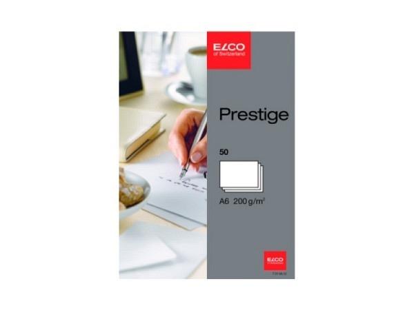Karten Elco Prestige A6 200g/qm weiss 50Stk. Holzfrei