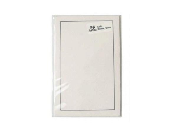 Karten Artoz Trauer B6x2hd Bütten 5 Doppelkarten weisslich