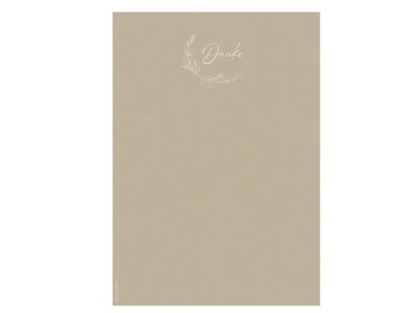 Papier Artoz Design Pastellblume mit Kupfer, 5 Blatt A4