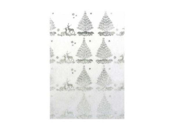 Japanpapier Artoz A4 Wintermärchen Glitter Tannenbäume