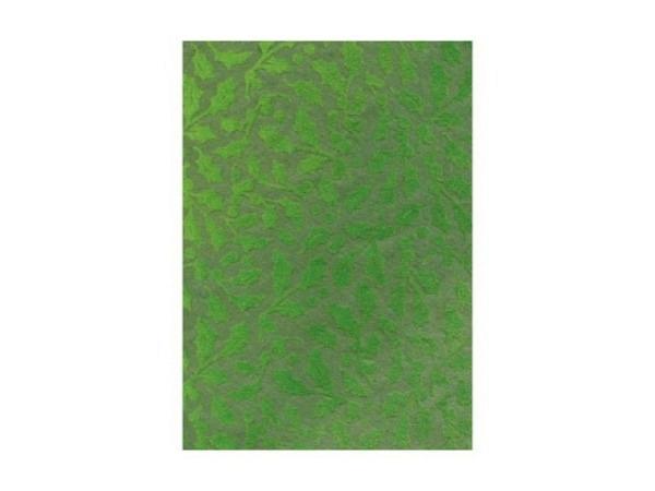 Japanpapier Artoz A4 Holly grün, samtartige Zweige Blättern