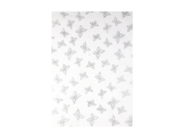 Japanpapier Artoz A4 Schmetterling weiss / silber, hellblau