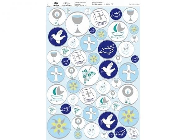 Papier Artoz Design  Komm./Konf. blau, 5 Bogen A4 90g