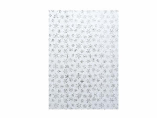 Japanpapier Artoz A4 Schneeflocken glitter/weiss 70g/qm