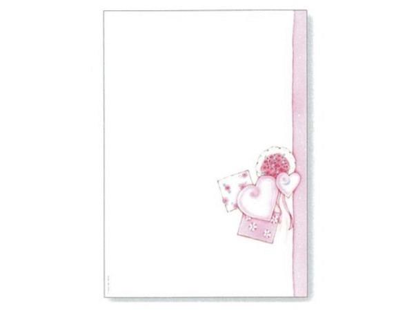 Papier Artoz Design Blumen Bouquet rosa 5 Bogen A4 110g