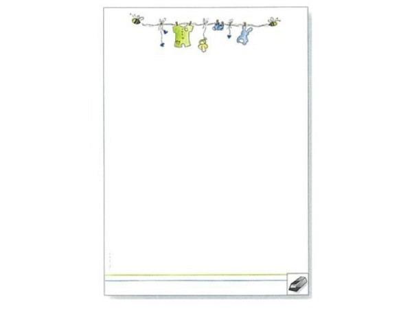 Papier Artoz Design Babykleider Junge 5 Bogen A4