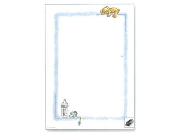 Papier Artoz Design Schlafender Teddy blau 5 Bogen A4 110g