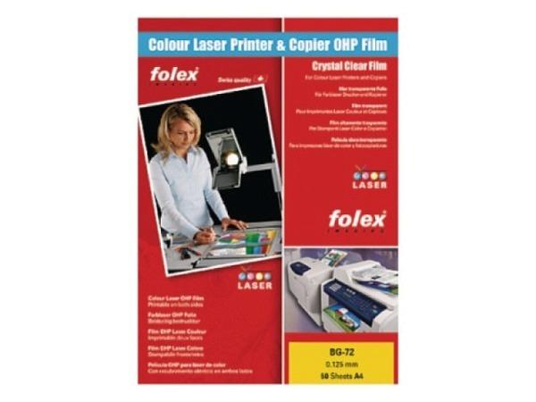 Folie Folex transparent A4 für Ink-Jet und Laserdrucker