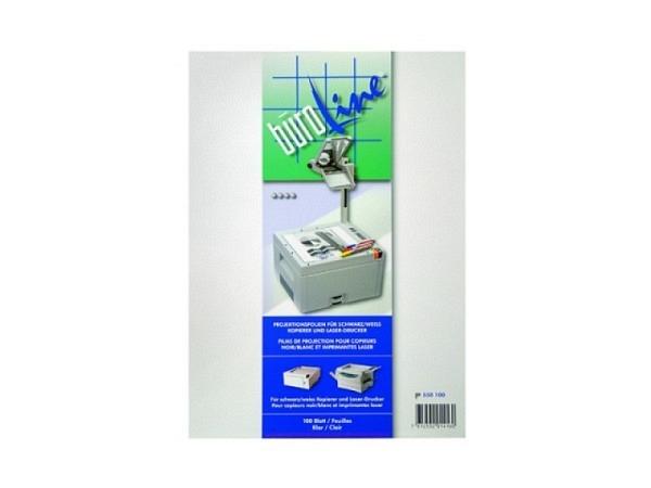 Folie Büroline Kopierer 100Stk. A4, transparent