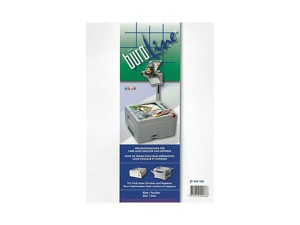 Folie Büroline für Farblaserdrucker 50Stk., glasklar