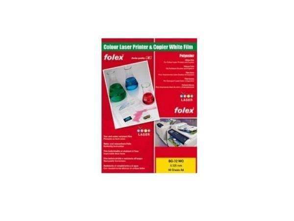 Folie Folex A4 BG-72WO weiss glänzend für Farblaser 0,125mm