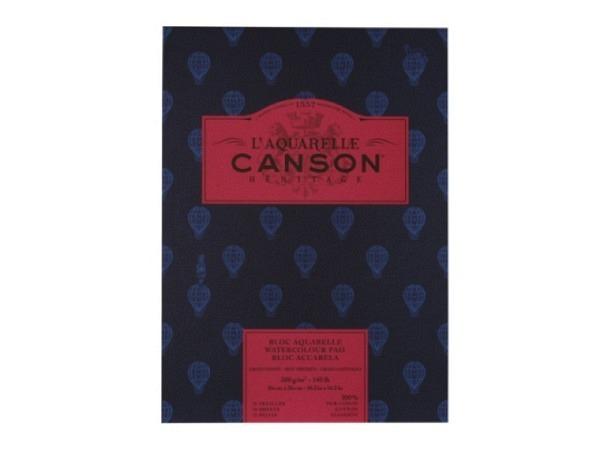 Aquarellblock Canson Héritage 26x36cm satiniert 12Blatt
