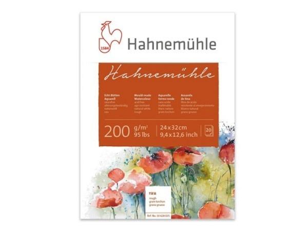 Aquarellblock Hahnemühle Echt-Bütten rau 200g/qm 8x10,5cm
