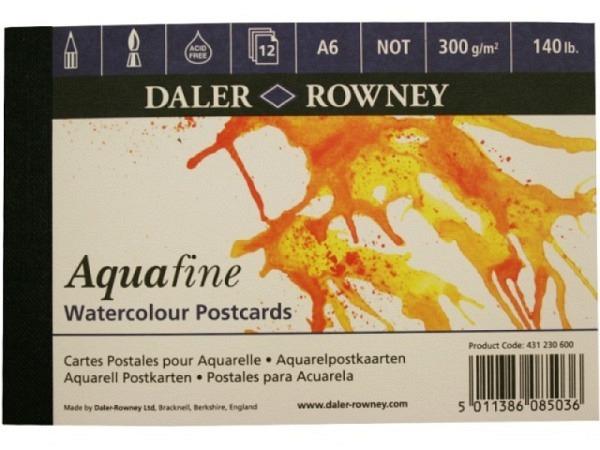 Aquarellblock Daler-Rowney Aquafine Postcards 13,5x9,9cm