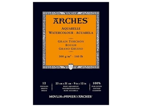 Aquarellblock Arches rauh 300g 23x31cm 12Blatt Torchon