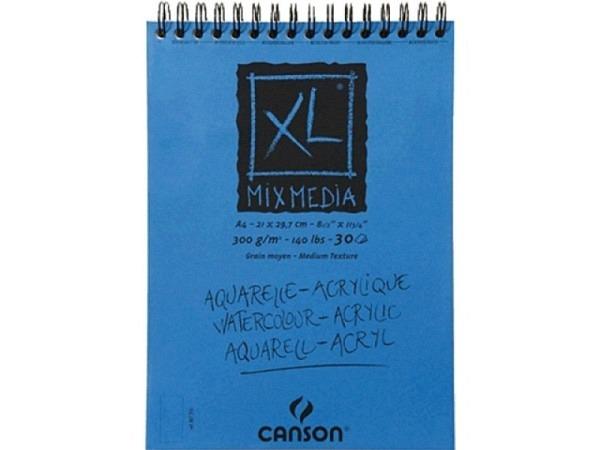Aquarellblock Canson MixMedia A5 mit Spirale 15Blatt 300g/qm