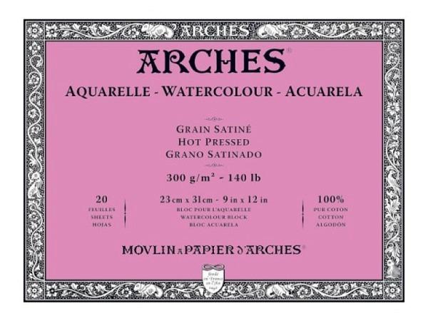 Aquarellblock Arches Torchon 300g/qm 19x26cm 12Blatt
