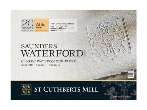 Aquarellblock Saunders Waterford rauh 31x41cm 20Blatt 300g