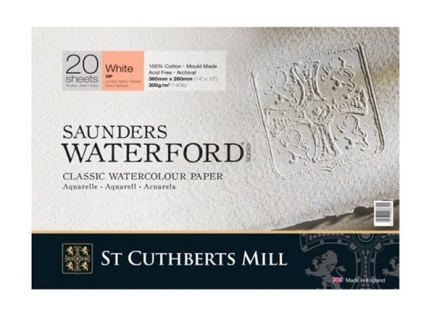 Aquarellblock Saunders Waterford glatt 23x31cm 20Blatt 300g