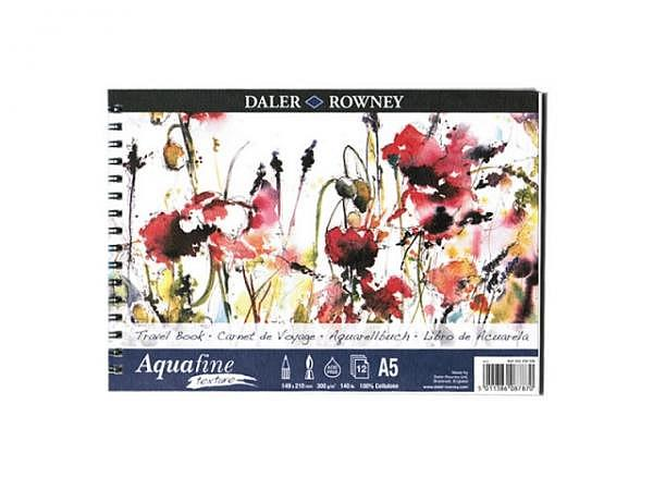 Aquarellpapier Daler-Rowney Aquafine Texture Travelbook A5