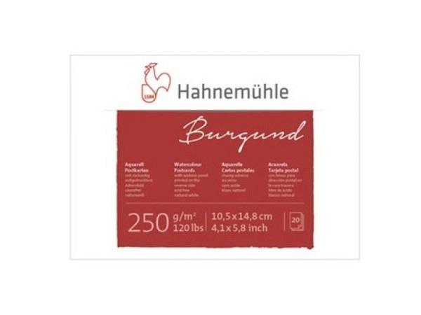 Aquarellblock Hahnemühle Burgund 10,5x14,8cm Postkarten