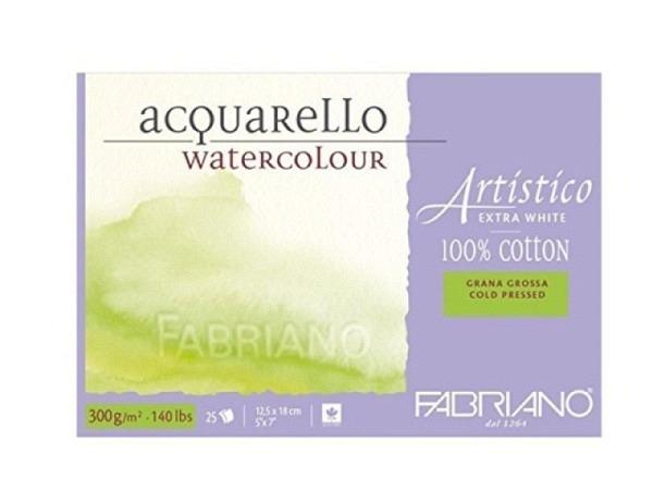 Aquarellblock Fabriano Artistico Extra White 12,5x18cm GG