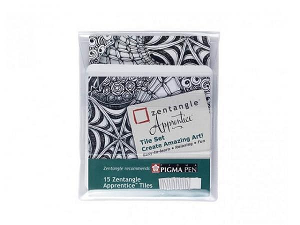 Papier Zentangle Apprentice Tile Set weiss 11,4x11,4cm