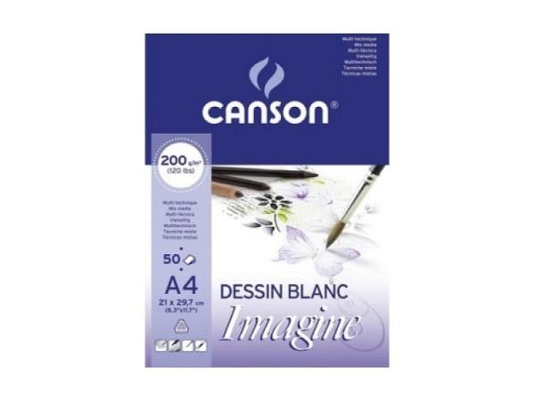 Aquarellpapier Canson Imagine 200g/qm A4 Pochette mit 50 Blatt
