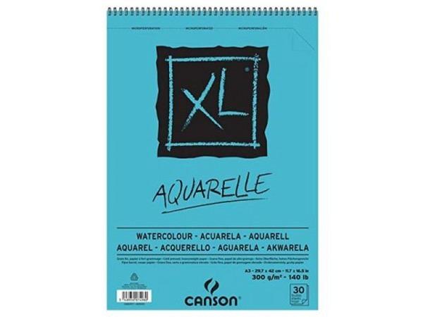 Aquarellblock Canson Aquarelle XL A3, 300g/qm