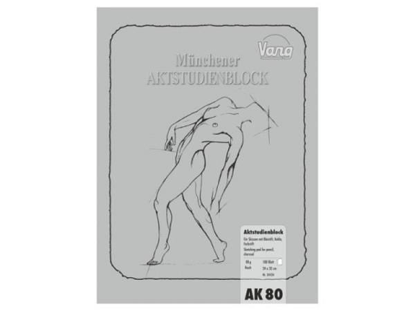 Zeichenblock Vang 24x32cm Münchner Aktstudienblock 80g rauh