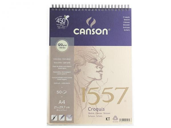Zeichenblock Canson 1557 120g/qm Spiralbindung A5