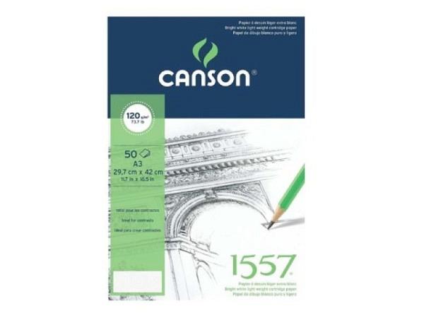 Zeichenblock Canson 1557 120g 50Bl. A3