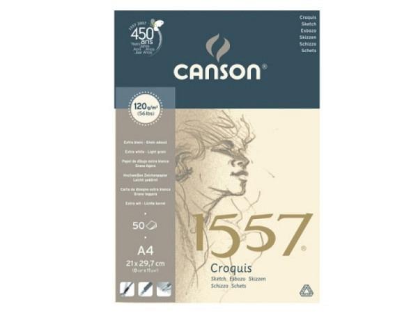 Zeichenblock Canson 1557 120g 50Bl. A4