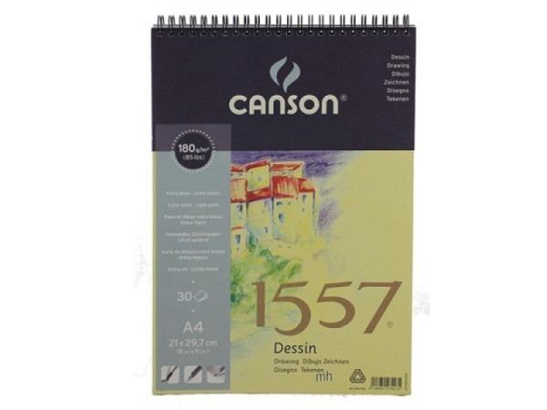Zeichenblock Canson 1557 180g 30Bl. Spirale A2