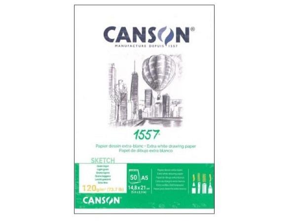 Zeichenblock Canson 1557 120g/qm geleimt A5