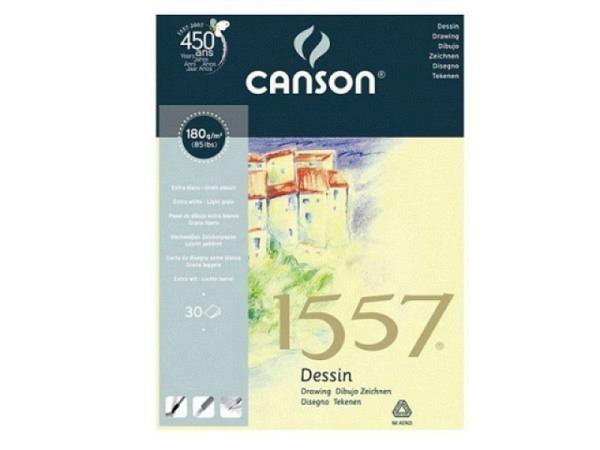 Zeichenblock Canson 1557 180g/qm geleimt A5