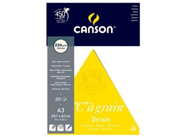 Zeichenblock Canson C à Grain 224g/qm 30x42cm 20 Blatt