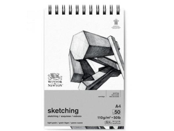 Zeichenblock Winsor Newton Cartridge Sketch Pad 110g 50Bl A4